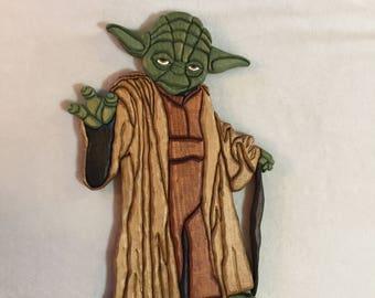 Yoda Intarsia Wall Carving