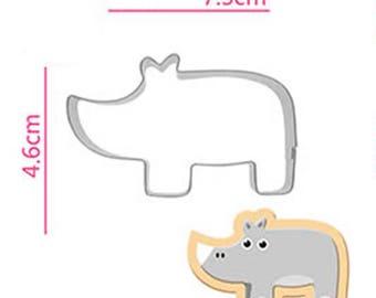 Hippopotamus Hippo Cookie Cutter - Animal Fondant Biscuit Mold - Pastry Baking Tool Set