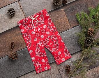 Red Newborn Girl Pants