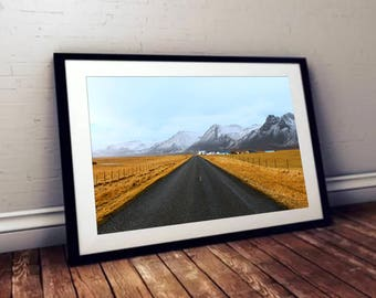 Road to the Mountains Landscape Print - High Quality Photo for Wall Art
