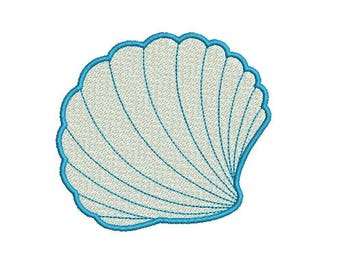 Sea Shell Seashell Clam Design Embroidery Fill Design  Machine Instant Download Digital File EN1045BF