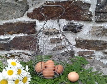 Basket with eggs from the 1950's