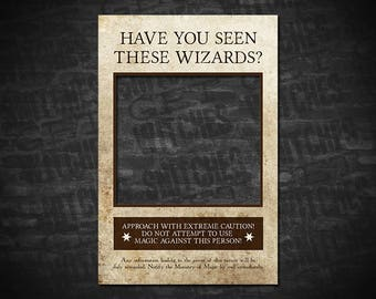 Have You Seen These Wizards? Harry Potter Wanted Poster, Wanted Poster, Printable Wanted Poster, Instant Download