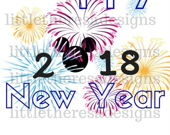 Happy New Year Transfer,Digital Transfer,Digital Iron Ons,Diy