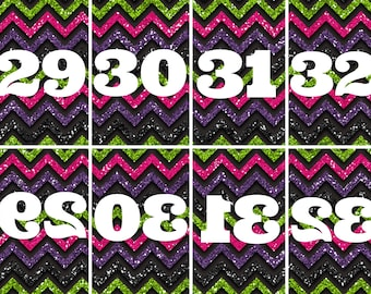 Bright Glitter Live Sale Numbers 1-100 Mirrored/Reversed Number Cards Instant Download