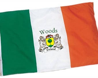Woods Irish Coat of Arms Flag - 3'x5' foot