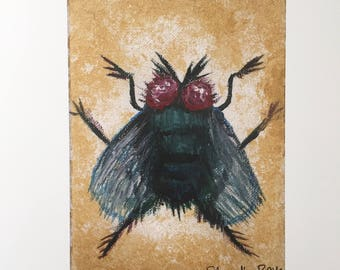 Lucilia -- print of original acrylic painting of a desert fly