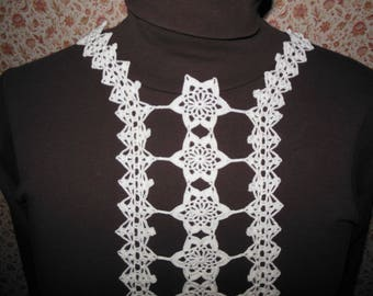 Application sew white cotton hook