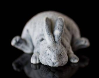 Marble rabbit statuette for home decor gift ldea for chrismas