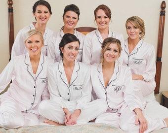 Bridesmaid Pajamas, bridesmaid shirts, bridesmaid pajamas set, personalized PJ set, set of 2, 3, 4, 5, 6, 7, 8, 9, 10