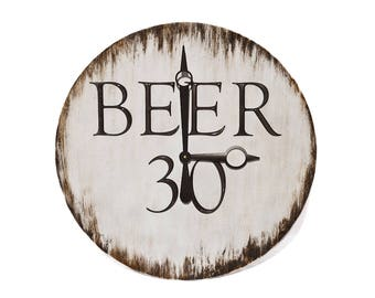 Beer 30 Wall Clock // Custom Wall Clock