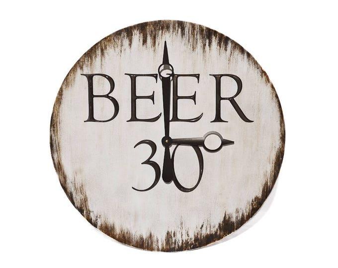 Beer 30 Wall Clock