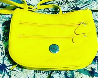 Canary yellow 80s shoulder bag with adjustable strap. Mint Condition!!!!!