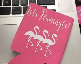 Flamingo- Themed Customizable Can Holder