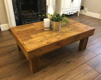 Low Coffee Table, reclaimed pallet wood ( Handmade )