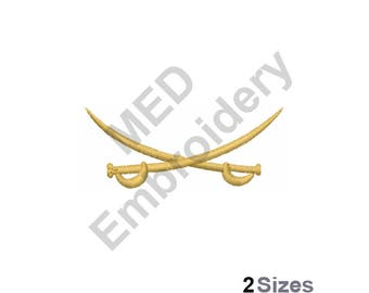 Crossed Swords - Machine Embroidery Design