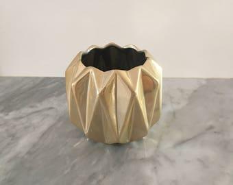 Blonde Geometric Vase