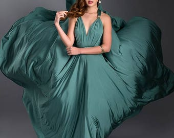 Formal Convertible Wrap Dress Ballgown