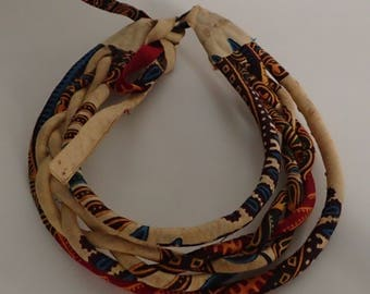 Necklace from African textiles