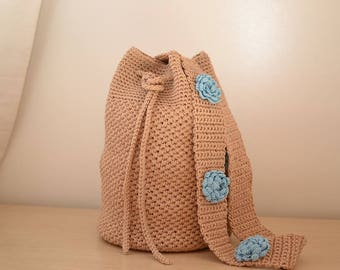 knitted bag sack
