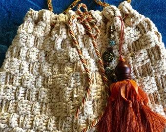 Large Sonoma Basketweave Shoulder Bag