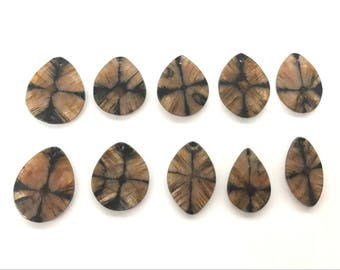 Genuine Nugget Chiastolite, Natural Andalusite Cross Stone Freeshape Pendant ---1 Piece