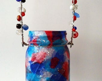 Fourth of July Hanging Mason Jar Luminary