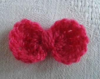 set of 6 bows with crochet