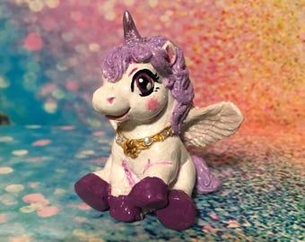 Purple Unicorn Figurine