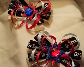 Dr. Seuss Inspired MadMells Hair Bow