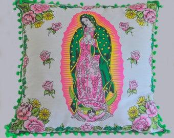 Colourful Mexican cotton cushion by Solo Mia Designs