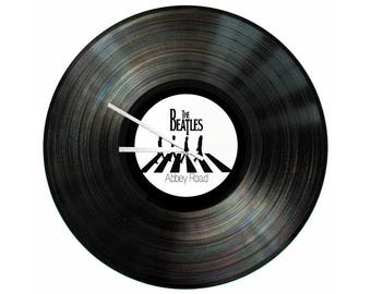 The Beatles Abbey Road Vinyl Clock 12 inch