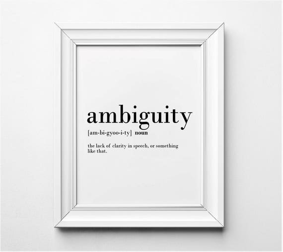 Ambiguity definition funny office wall art office decor for Decor definition
