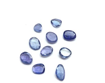 Tanzanite faceted gemstone 6 to 10mm