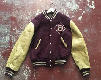 Vintage Varsity jacket, wool with leather arms