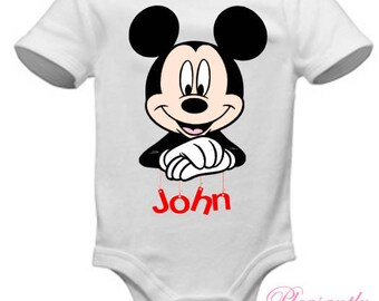 Mickey Mouse & Name - Onesie/Bodysuit