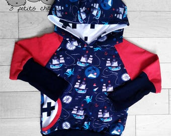 Custom Grow with me hoodie / adjustable sweatshirt /3m-12m /9m-3T /3T-6T