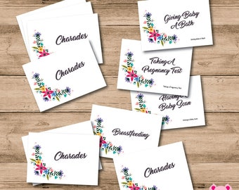14 x Floral Charade Cards