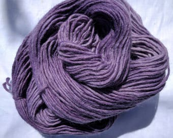 Logwood purple. Semisolid Naturally Dyed Alpaca DK double knitting yarn. Handdyed in the UK for knitting crochet weaving. Indie dyer.