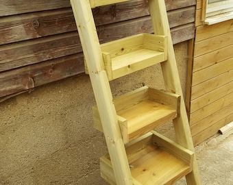 Wooden Garden Shelves