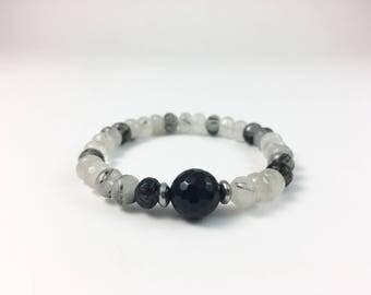 Black and white Agate bracelet