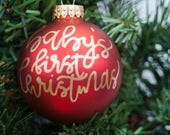Custom Christmas Ornament | Custom Lettering | Christmas Ornament