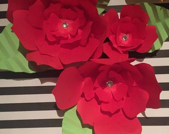 Large paper flower backdrop decor ***customize your order***