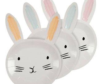 Bunny Plates - Easter Plates - Meri Meri - Baby Shower - 1st Birthday - Party Tableware