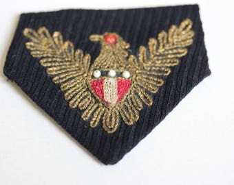 Pocket Flap with Embroidered Eagle