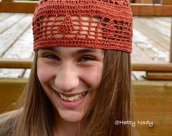 Summer Boho lace beanie hat