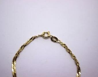 Plain bracelet, silver plated