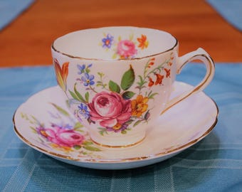 Duchess English Bone China Teacup and Saucer