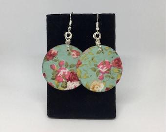 Cute Floral Wood Earrings!!