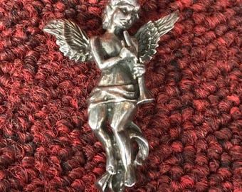 Sterling Silver 925 Angel Cherub Pin
